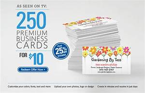 As seen on tv for Vistaprint free business cards promo code