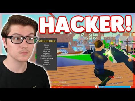 destroying trash aimbot hacker  strucid roblox