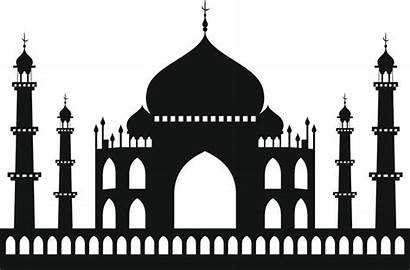 Taj Mahal Vector Drawing Silhouette Sketch Mosque