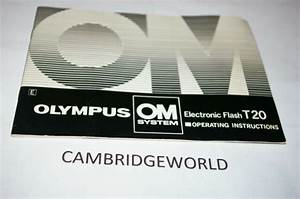 Olympus Om T20 Electronic Flash Instruction Manual Guide