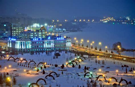 winter kazan  birds eye view russia travel blog