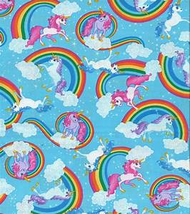 Novelty Cotton Fabric-Unicorns And Rainbows Jo-Ann