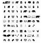 Bear Icons Font Fonts Characters Character Map