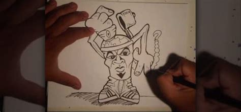 Graffiti Wizard Character : How To Draw A Goateed Spraycan Graffiti Character With