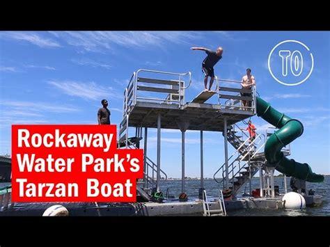 Tarzan Boat Rockaway Beach by Rockaway Water Park S Floating Playground Is A Must For