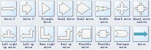 Arrows Diagram Symbols