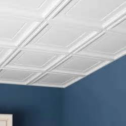 Suspended Ceiling Tiles 2x2 by Genesis Ceiling Tile 2x2 Icon Coffer Tile In White