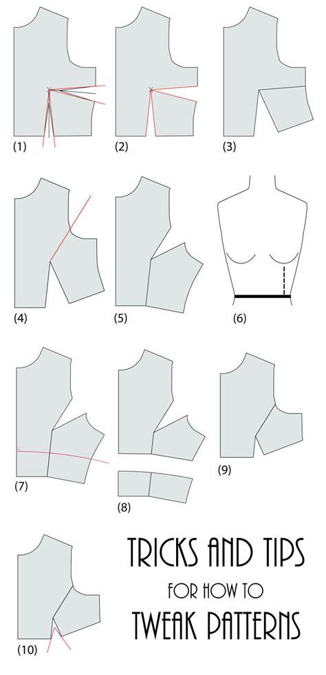 sewing templates how to tweak sewing patterns gun ramblings