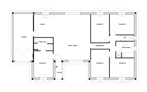 plan maison 2 chambres cheap plan maison chambres m with plan maison 80m2 2 chambres