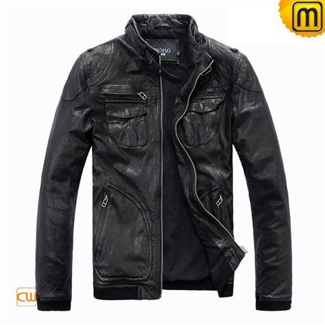 black motorbike jacket men 39 s black motorcycle leather jacket cw813074