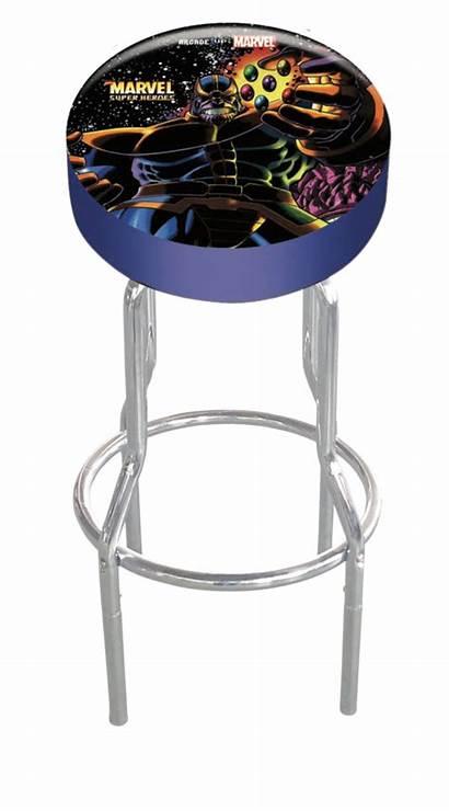 Stool Marvel Heroes Arcade1up Adjustable Stools Bar