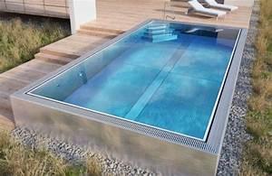 Piscine Enterrée Rectangulaire : piscine rectangulaire enterr e ~ Farleysfitness.com Idées de Décoration