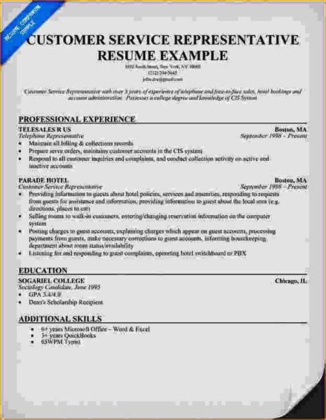 excellent customer service resume exles resume