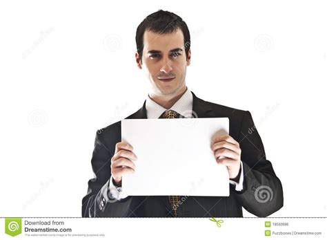 business man hold paper royalty  stock image image