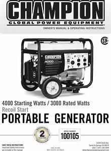 Champion Generator 4000 Wiring Diagram