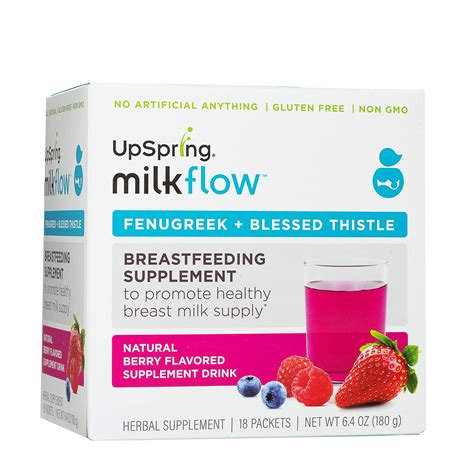 Amazoncom Upspring Milkflow All Natural Fenugreek And