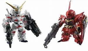 FW Gundam CONVERGE SP02: Unicorn Destroy Mode & Sinanju No ...