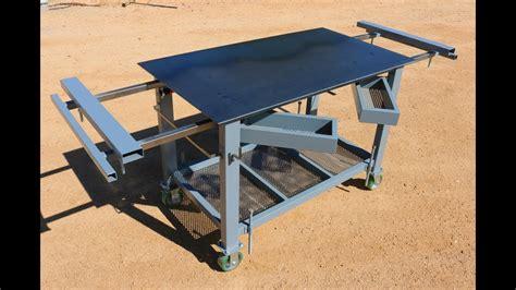 welding table workbench build   youtube
