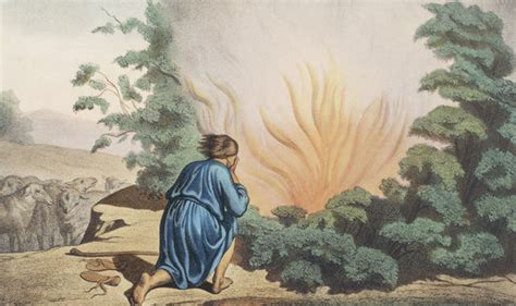 moses  high   spoke   burning bush