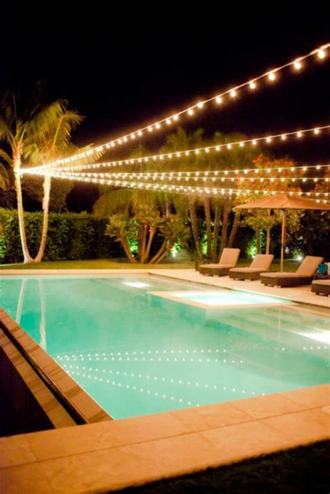 string lights pool what to do with lights after december april