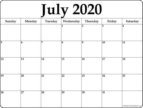 monthly calendar july   calendar printable