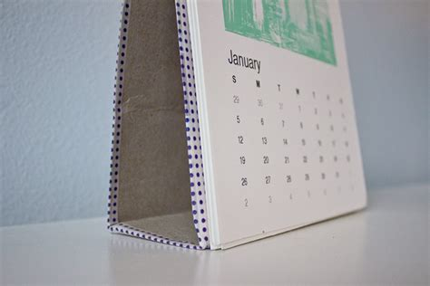 make a desk calendar with pictures homemade desk calendar mox fodder