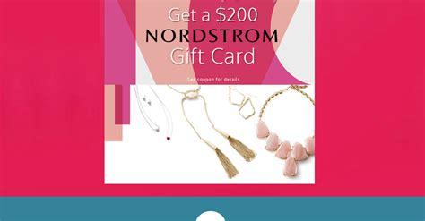 No cash or atm access. FALSE: Nordstrom Giving Away $200 Gift Card