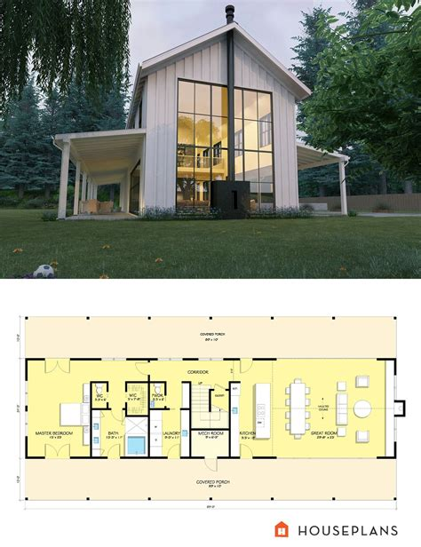 Contemporary Farmhouse Floor Plans Elegant Style House