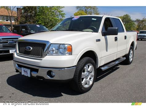 Newins Ford by 2007 Ford F150 Lariat Supercrew 4x4 In White Sand Tri Coat