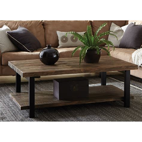 """Portals outdoor square coffee table, matte sand finish with teak wood topby armen living. Loon Peak Somers 48""""W Reclaimed Wood/Metal Coffee Table & Reviews 