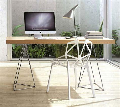 treteaux pour bureau 41 idées déco de tréteaux pour créer une table ou un bureau