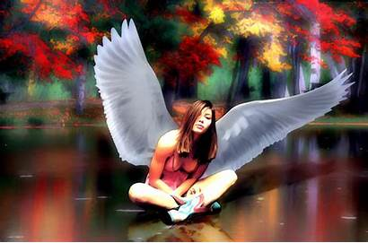 Asian Angels Extreme Autumn Fantasy Mood Wallpapers