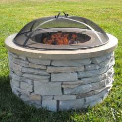Wood-Burning Fire Pit Kits Stone