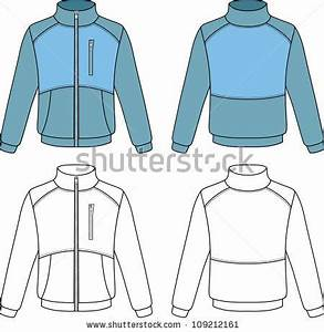 outline sports jacket vector illustration isolated on With sports jacket template
