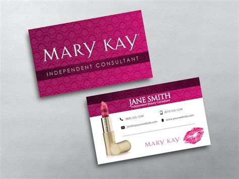 mary kay business cards images  pinterest