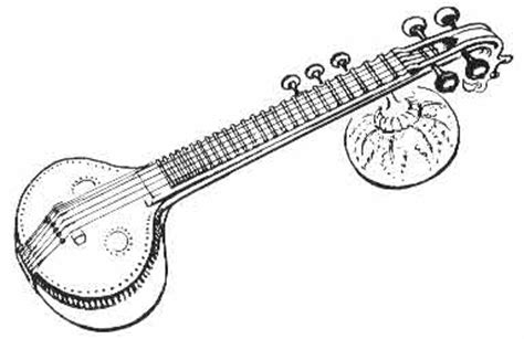 Bass guitar tanpura music of india sitar drawing, bass guitar, classical music, india, cuatro png. Saraswati Drawing   Free download on ClipArtMag