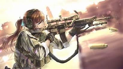 Anime Shooting Military Weapon Hair Bullet Wallhere