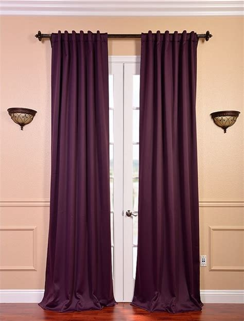 aubergine blackout curtain contemporary curtains san