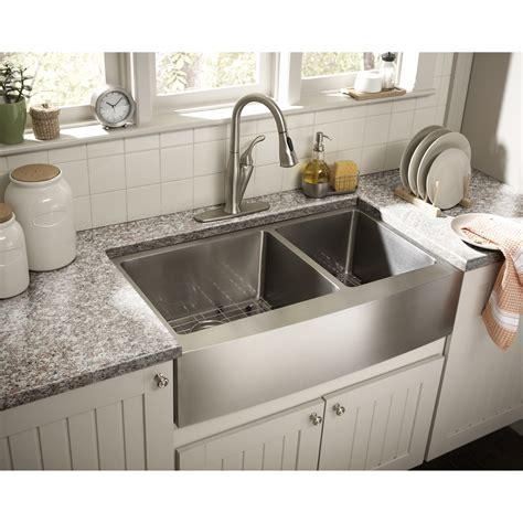 kitchen sink with schon farmhouse 36 quot x 21 25 quot undermount double bowl
