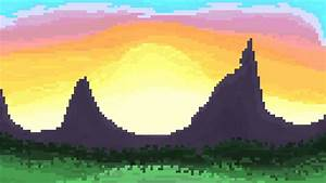 Mountain Landscape - Pixel Art by RoboPixels on DeviantArt