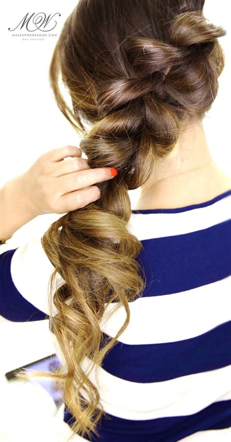 minute fancy pony braid hairstyle easy hair tutorial