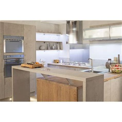 cuisine effet beton meuble de cuisine delinia composition type loft gris