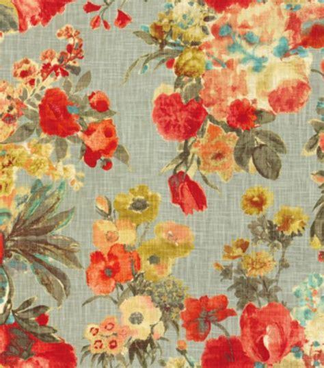 foto de HGTV Home Upholstery Fabric Garden Odyssey Fog Fabric