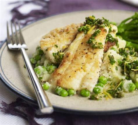 haddock recipes zesty haddock with crushed potatoes peas recipe bbc good food