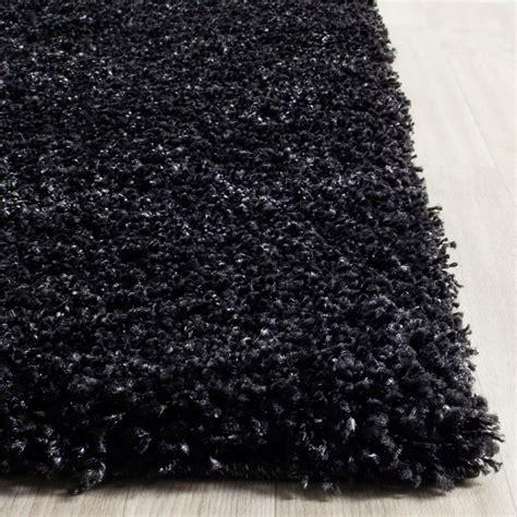 black shag rug thick pile black shag rug california shags safavieh