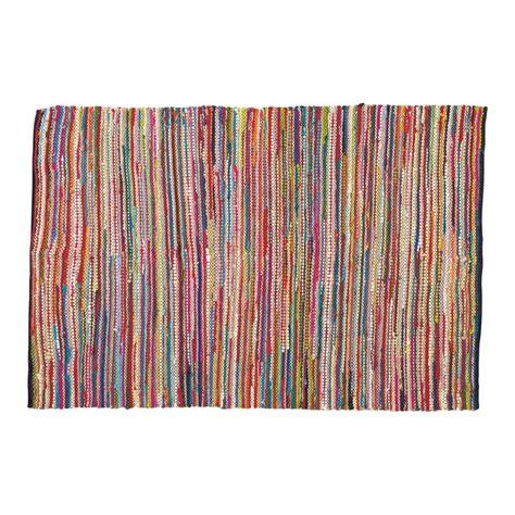 tapis tresse en coton multicolore    cm roulotte
