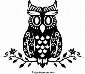 Cute Owl Vector Art Cutting Template | FreePatternsArea