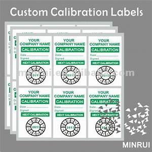calibration sticker kamos sticker With custom calibration labels