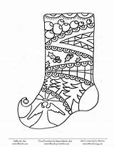 Stocking Coloring Christmas Pages Sheets Panty Ipad Template Milliande Colouring Adult Books Printables sketch template