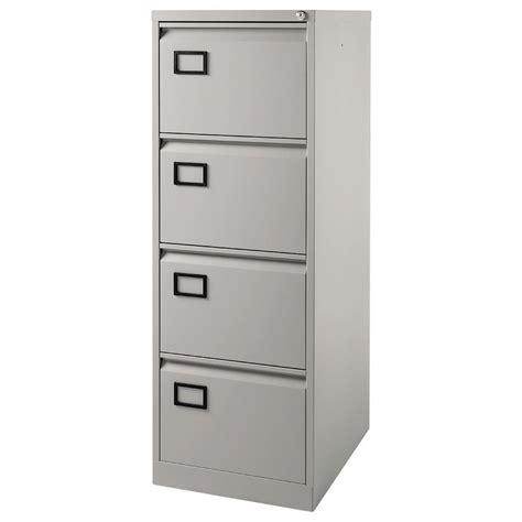 Bisley 4 Drawer Value Foolscap Filing Cabinet, Grey  Staples®